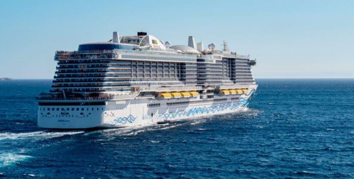 Aidanova Cruise Ship at Sea