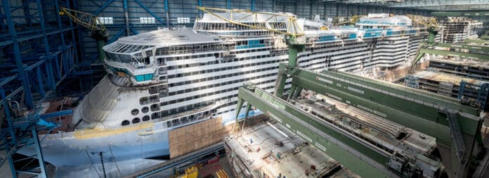 Odyssey of the Seas Under Construction