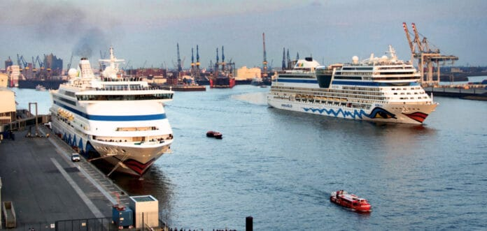 Aida Cruise Ships in Hamburg