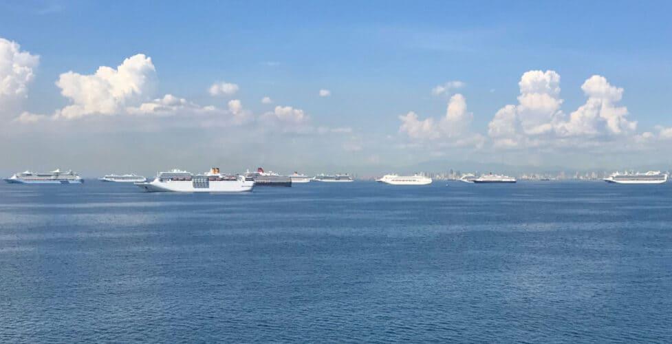 Cruise Ships Anchored in Manila Bay