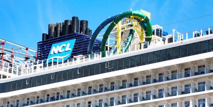 Norwegian Cruise Ship Funnel