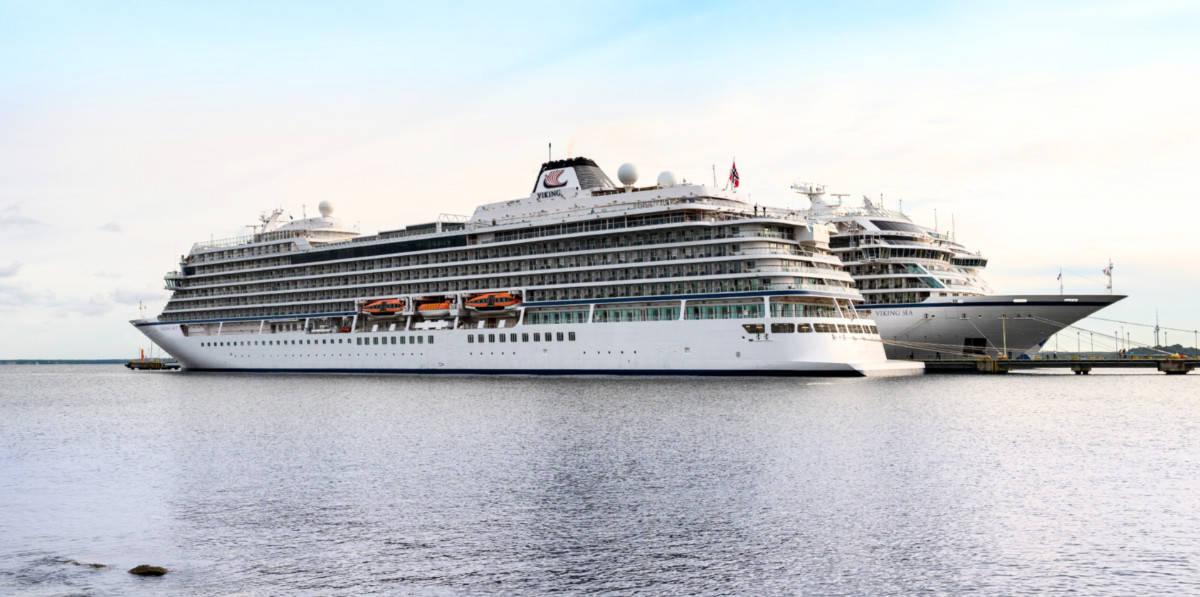 Docked Viking Cruise Ships