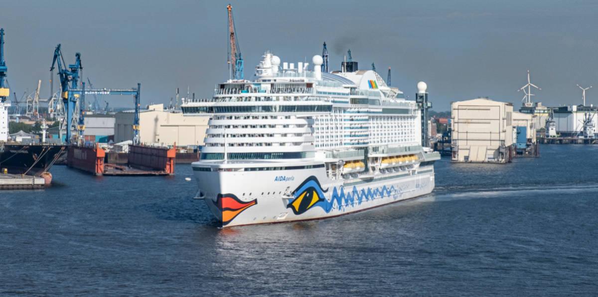 AIDAperla Cruise ship in Hamburg