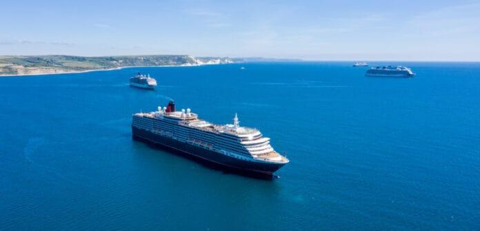 Cruise Ships Anchored in Dorset
