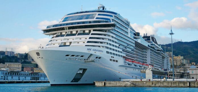 MSC Grandiosa Docked in Genoa