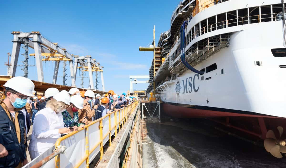 MSC Seashore Float Out