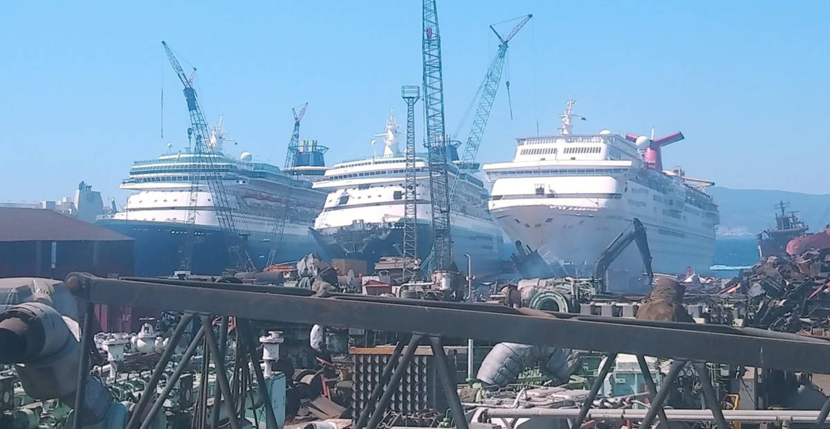 Sovereign Cruise Ship Scrapping