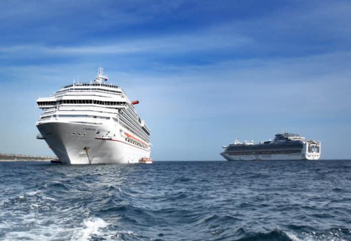 Anchored Cruise Ships