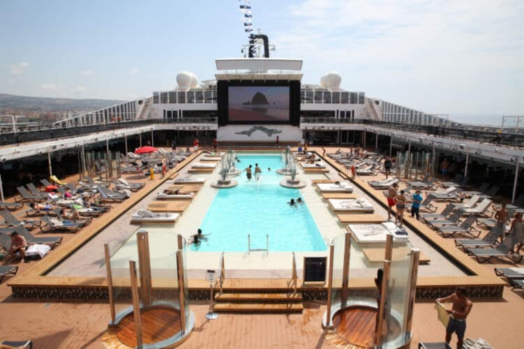 Main Pool on MSC Grandiosa
