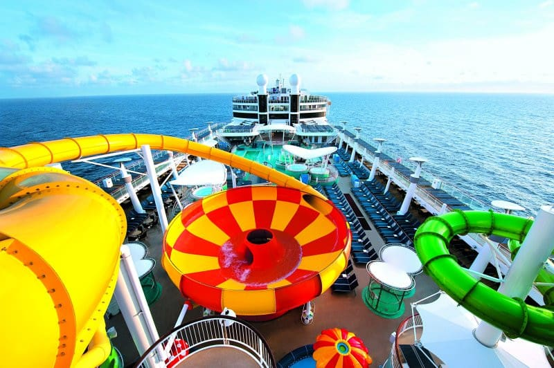 Open Deck Pools and Water slides