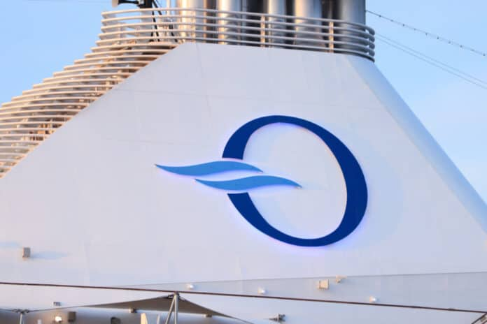 Oceania Cruise Ship Funnel