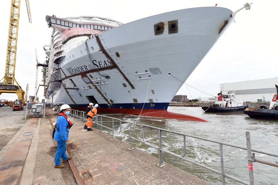 Wonder of the Seas Float Out