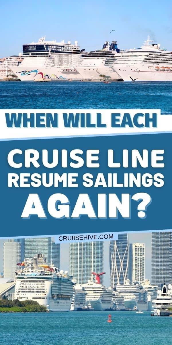 Cruise Line Resume Sailings