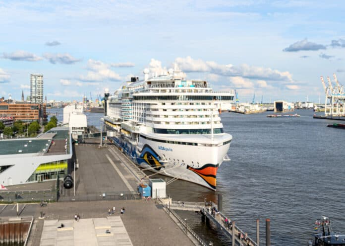 AIDAperla in Hamburg, Germany