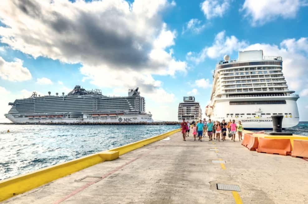 Cruise Ships Docked in Costa Maya