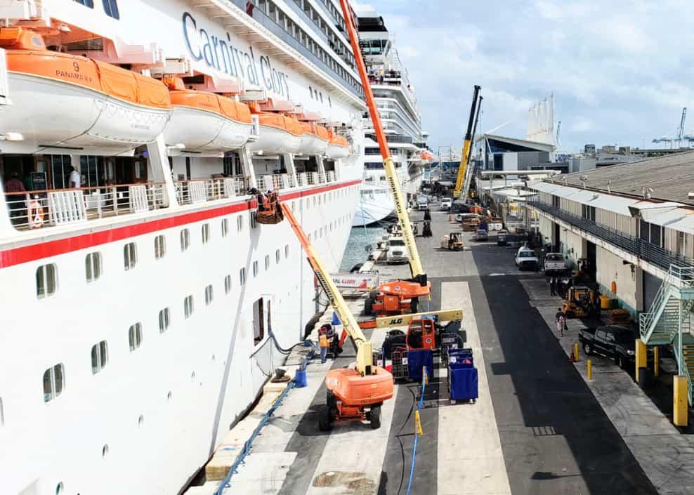 Carnival Ships at Port of Miami