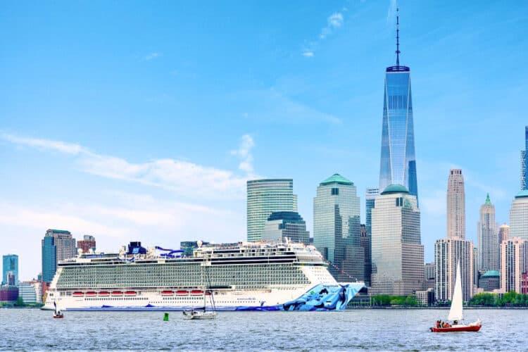 Norwegian Cruise Line Ship in New York