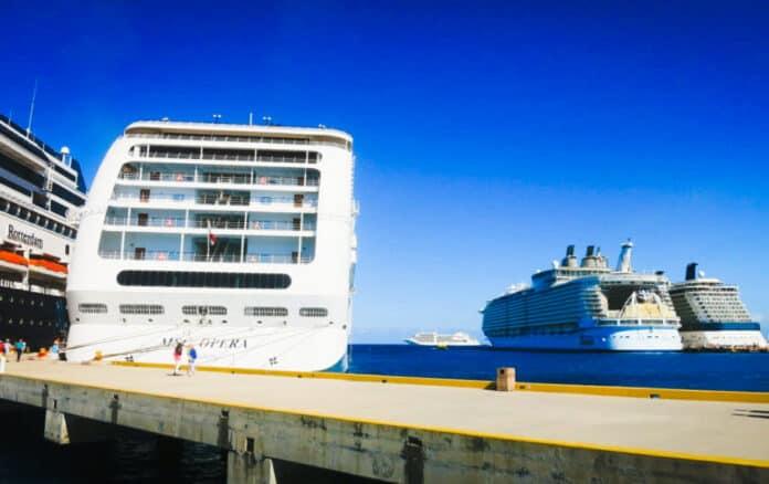 Cruise Ships Docked in Cozumel