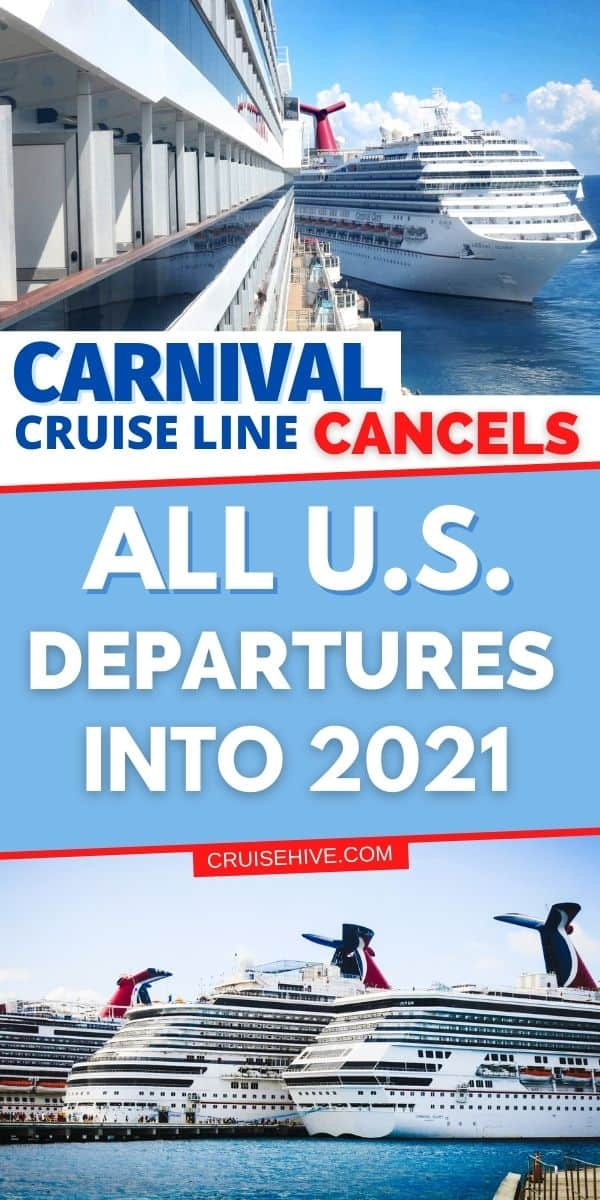 Carnival Cruise Line Cancels Cruises Into 2021