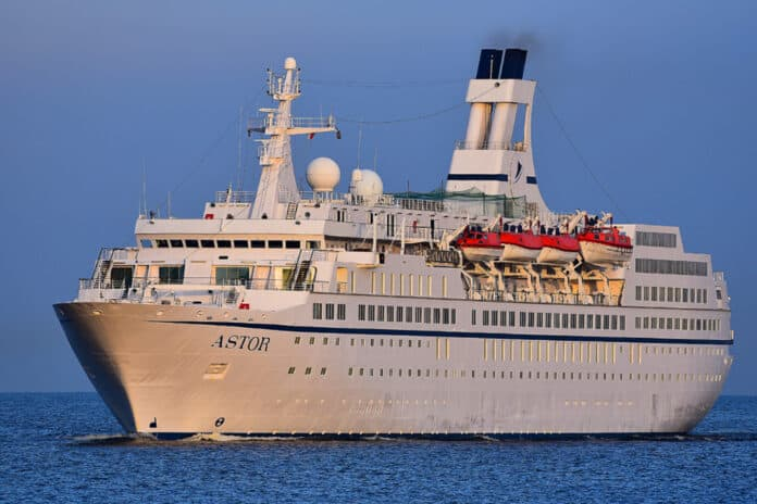 MS Astor Cruise Ship Beached