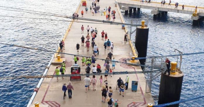 Cruise Passengers on Pier