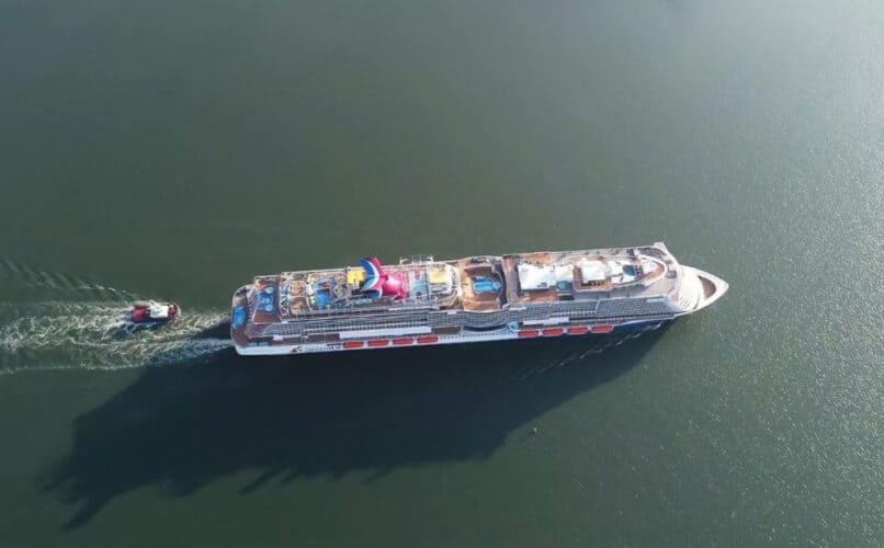 Mardi Gras Cruise Ship Sea Trials