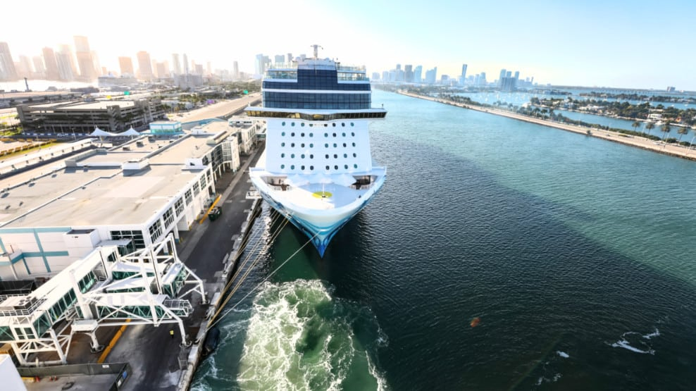 Norwegian Cruise Ship at Miami, Florida