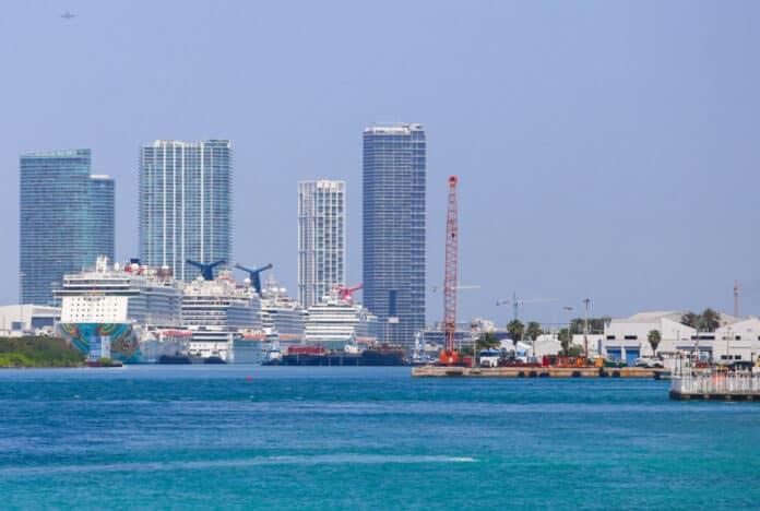 Docked Miami Cruise Ships