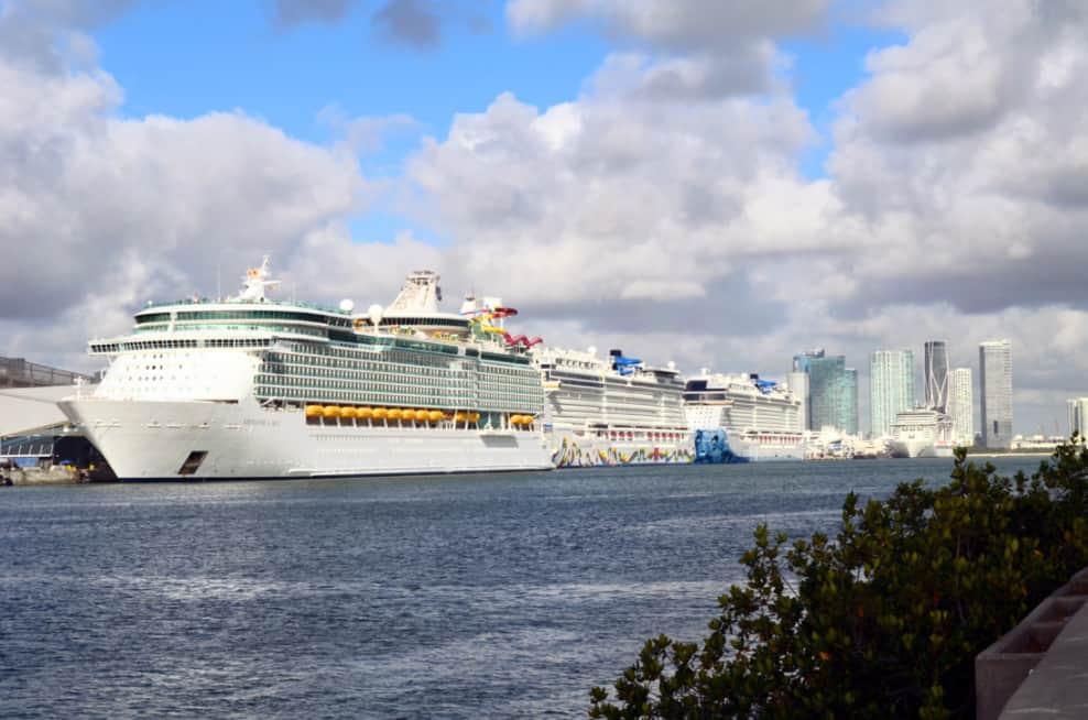 Cruise Ships at PortMiami, Florida
