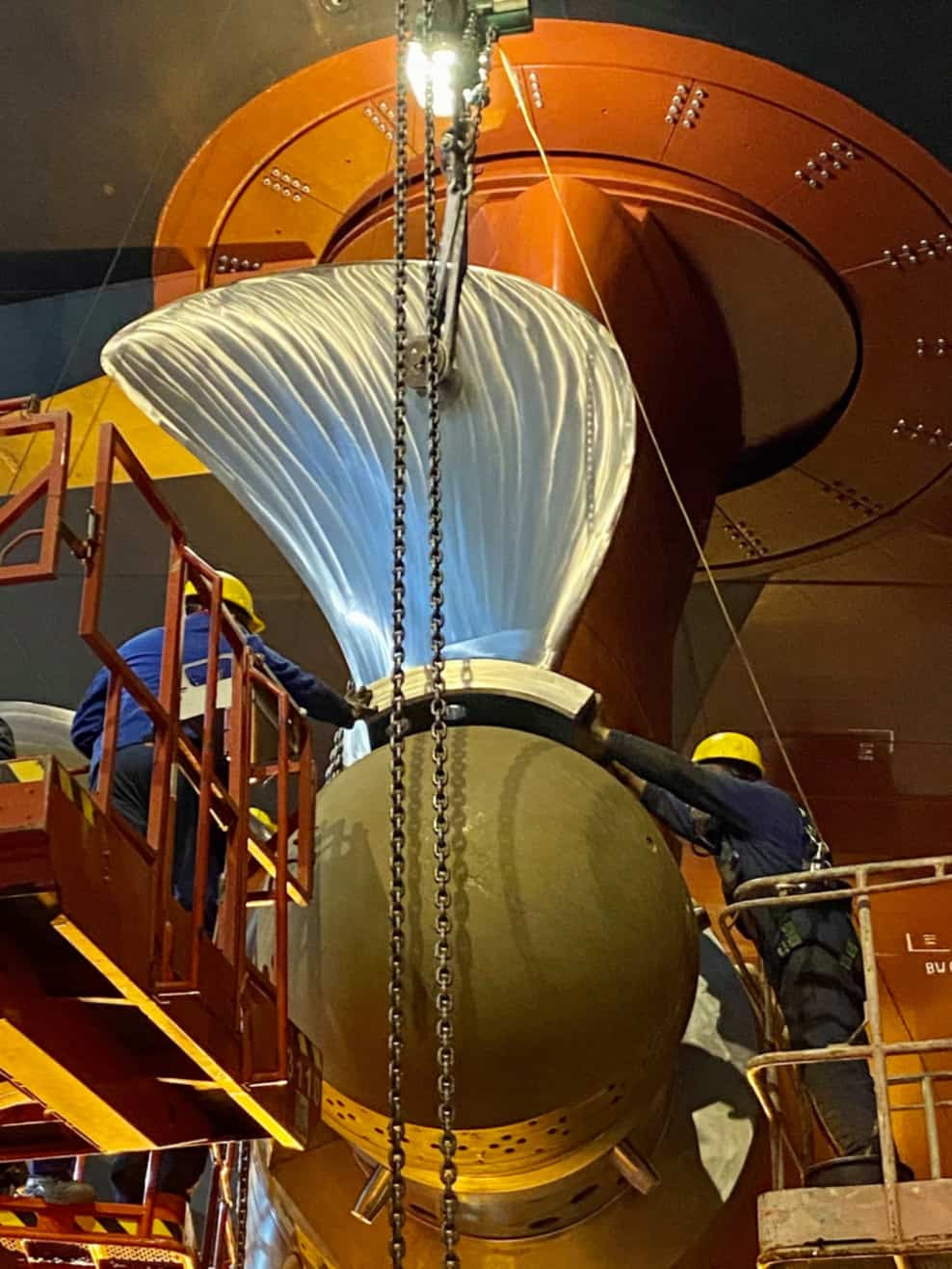 Odyssey of the Seas Propellers Installation