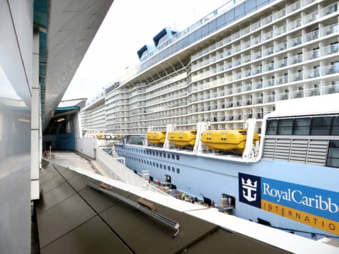 Quantum of the Seas Docked in Singapore