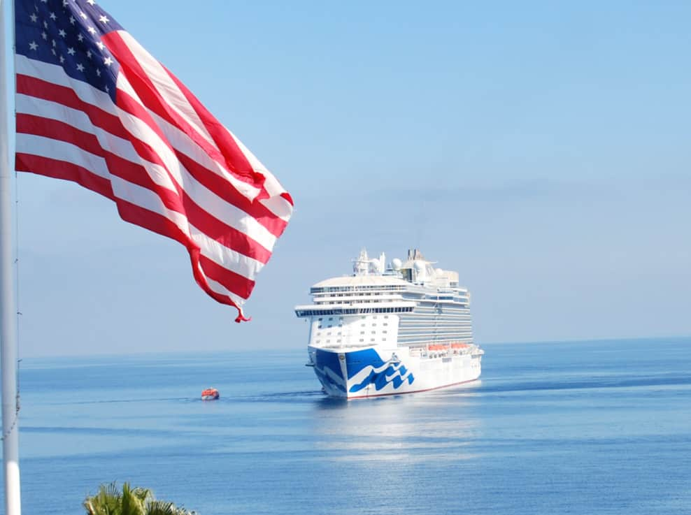US Flag, Cruise Ship