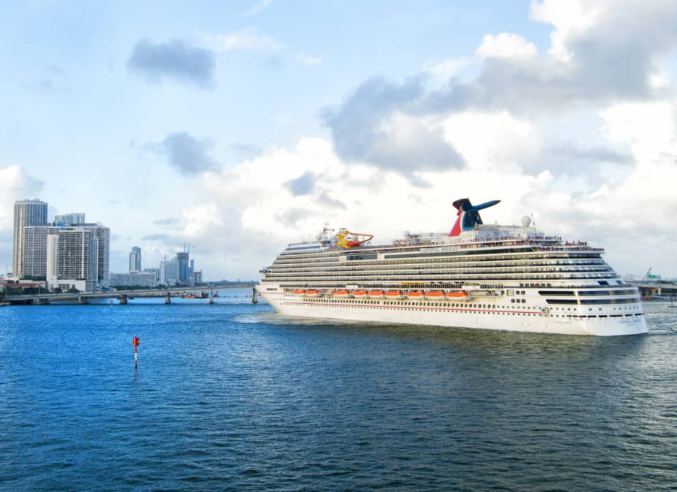 Carnival Breeze in Miami, Florida