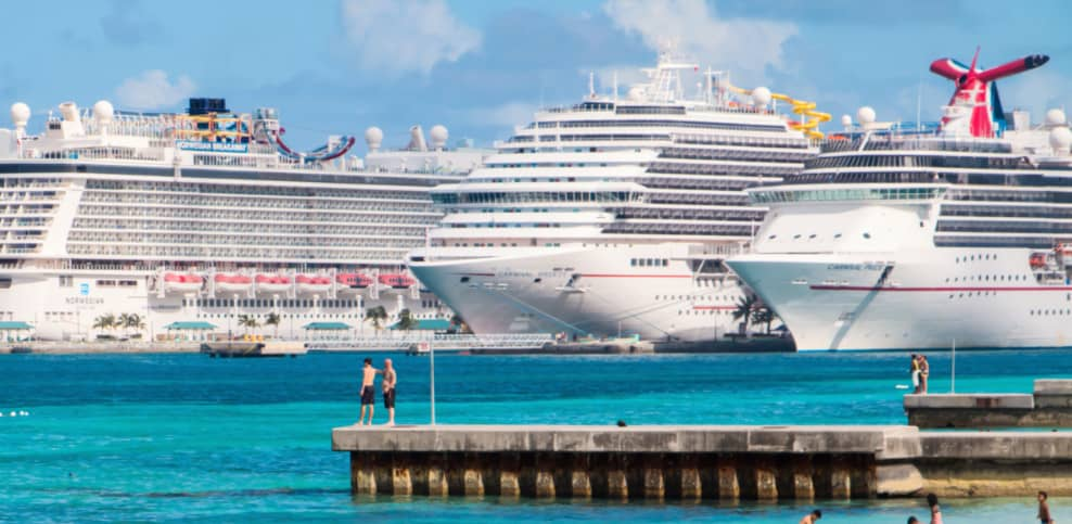 Docked Cruise Ships in Nassau
