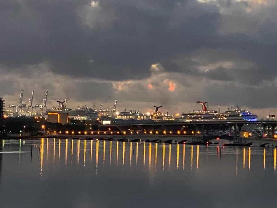 Carnival ships return to Miami, Florida