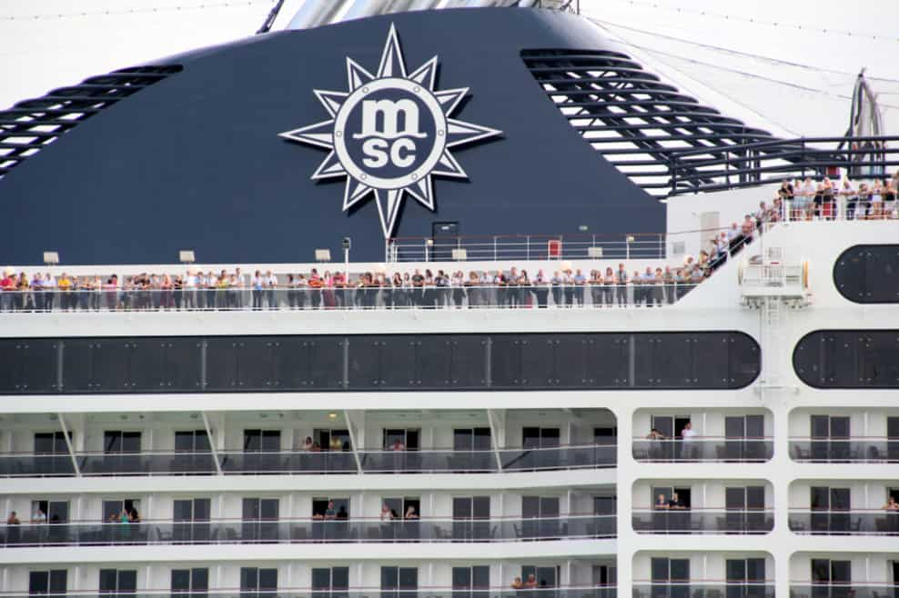 MSC Cruise Ship Funnel