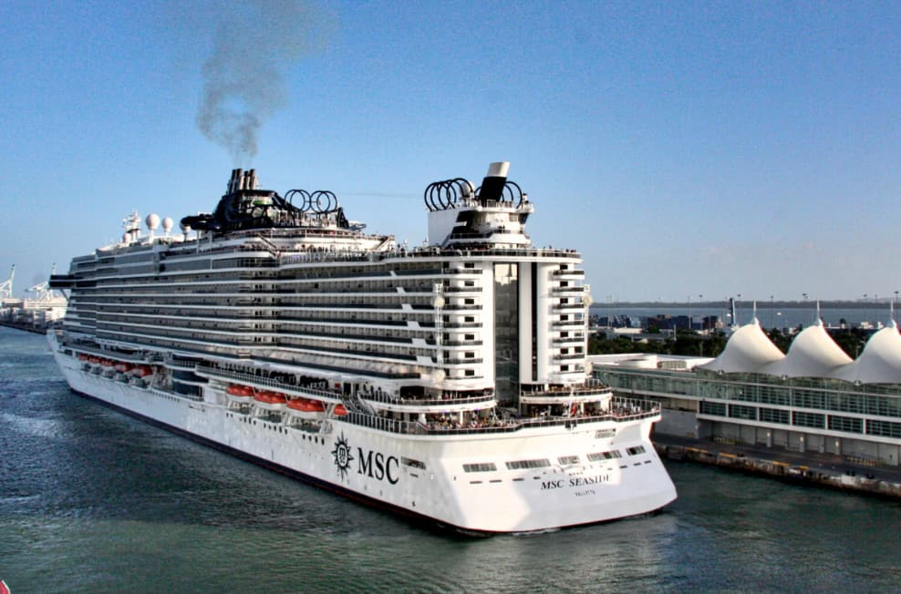 MSC Seaside at PortMiami, Florida