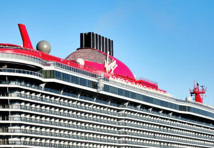 Virgin Voyages Cruise Ship Funnel