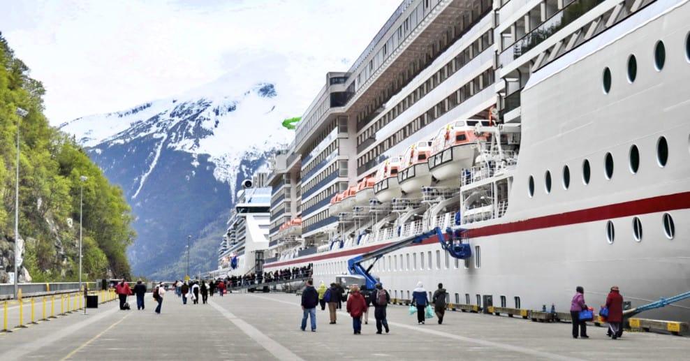 Cruise Ships Docked At Skagway Alaska
