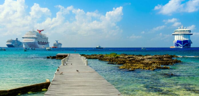 Cruise Ships Anchored in Grand Cayman