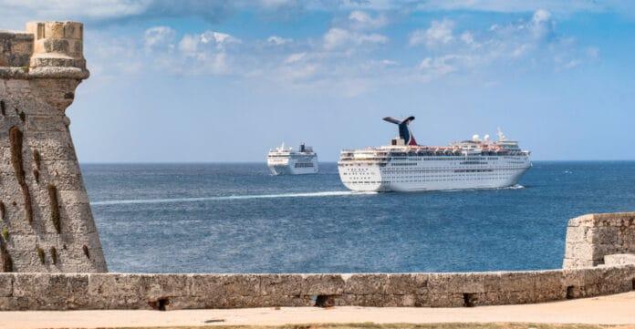 Cruise Ships Near Havana, Cuba