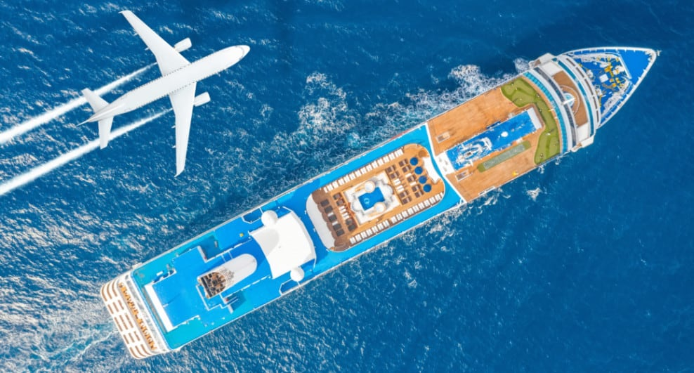 Flight Over Cruise Ship