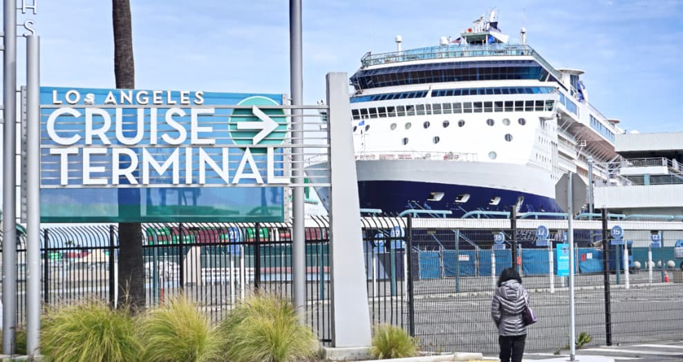 Cruise Ship at Port of Los Angeles