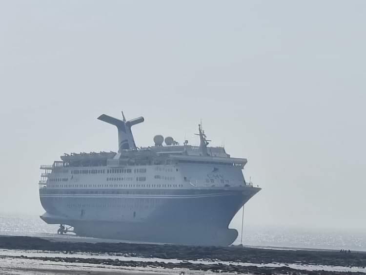 Magellan Cruise Ship Beached in Alang