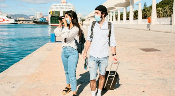 Cruise Passengers Wearing Mask
