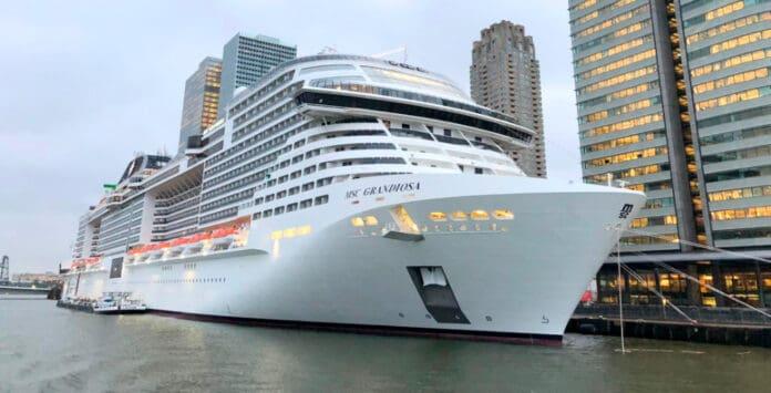 MSC Grandiosa in the Port of Rotterdam