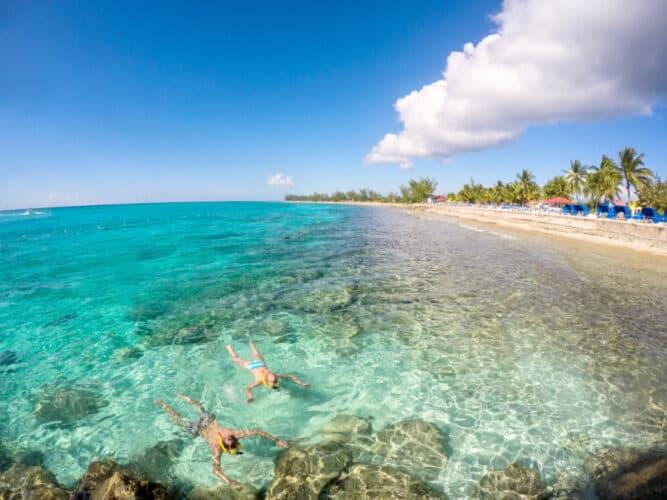 People Snorkeling at Princess Cays, Bahamas