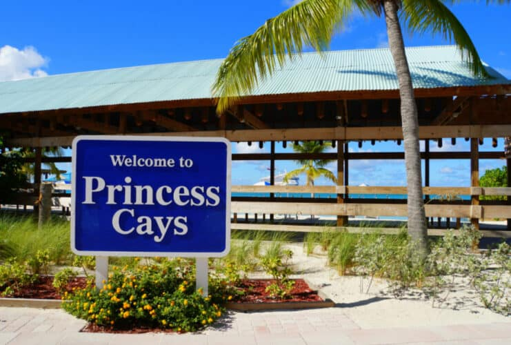 Welcome to Princess Cays Sign
