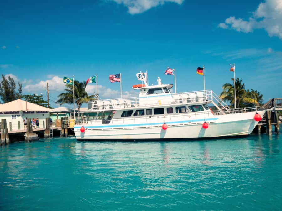Boat located at Princess Cays
