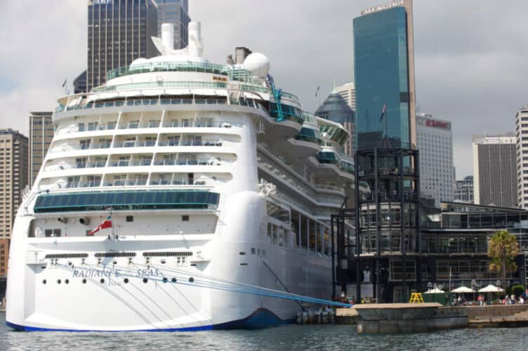 Radiance of the Seas Docked in Sydney